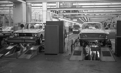 VW K70 and VW 412 being produced at Salzgitter.