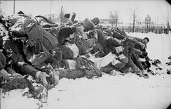 Dead Soviet soldiers in Kholm, January 1942