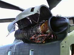 The turbine engine for CH-53 Sea Stallion helicopter