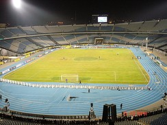 Cairo International Stadium with 75,100 seats