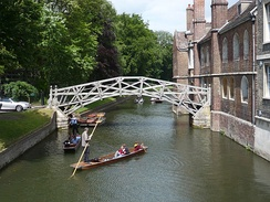 The Mathematical Bridge over the River Cam (at Queens' College)