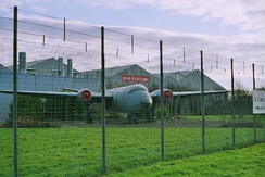English Electric Canberra gate guard at BAE's Samlesbury site