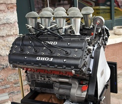 A Cosworth DFV 3 litre V8 Formula One engine.