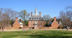 Governor's Palace, Colonial Williamsburg, a restored colonial city in Williamburg, Virginia