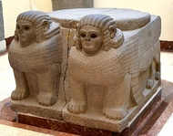Column base in the shape of a double sphinx. From Sam'al. 8th century BC. Museum of the Ancient Orient, Istanbul