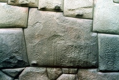 Twelve-angled stone in the Hatun Rumiyoc street of Cusco, is an example of Inca masonry