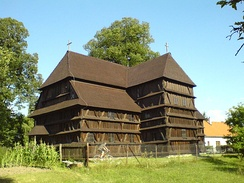 The Protestant wooden church in Hronsek (Slovakia) was built in 1726.