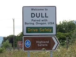 Dull, Perth and Kinross is twinned with Boring, Oregon