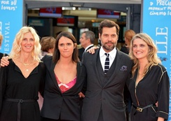 Sandrine Kiberlain, director Jeanne Herry, Laurent Lafitte and Olivia Côte  at the 2014 Deauville American Film Festival.