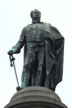 Statue of Frederick Duke of York in Waterloo Place, Westminster, London