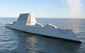 USS Zumwalt (DDG-1000), a guided missile destroyer from Bath Iron Works and the lead ship of her class