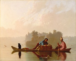 Fur Traders Descending the Missouri, c. 1845