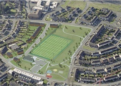 Glassmullin Community Facility & 3G Pitch - Approved Plan