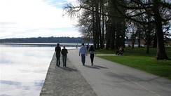 An attraction of Green Lake Park is a 2.8-mile (4.5 km) trail around the lake.