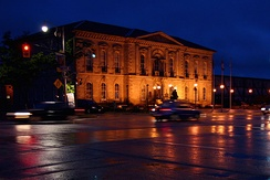 Old City Hall (Provincial Offences Court) at Night, Guelph, ON