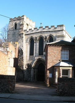 Tower of Micklegate Priory, now part of Holy Trinity church in York