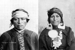 Mapuche man and woman. The Mapuche make up about 85% of Chile's indigenous population.