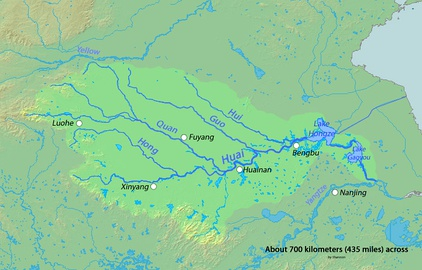 Huai River tributaries (which itself is a tributary of the Yangtze River).