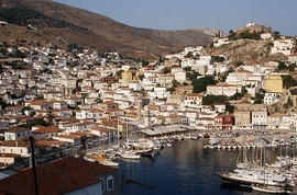 View of Hydra's port.