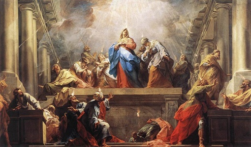 A Western depiction of the Pentecost, painted by Jean II Restout, 1732.