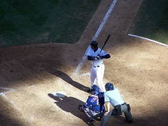 Ken Griffey Jr. during his final plate appearance of the 2009 season.