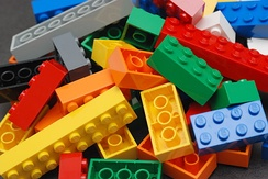 Lego bricks are produced by The Lego Group, headquartered in Billund.