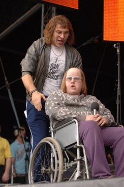 Lou Todd and Andy Pipkin, recurring characters in the series