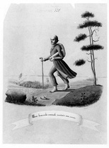 One Man Saved Everything for Us by Running, drawing by A. W. Linsen, 1847