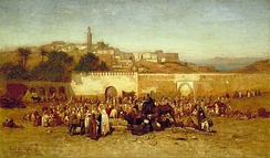 Tangier's population in 1873 included 40,000 Muslims, 31,000 Europeans and 15,000 Jews.[44]