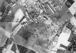 A Luftwaffe aerial photograph of RAF Manston at the outbreak of war in 1939 when it was still an all-grass airfield