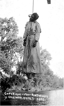 The lynching of Laura Nelson in Okemah, Oklahoma, on May 25, 1911[21][22]