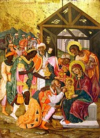 Adoration of the Magi in the Byzantine and Christian Museum in Athens.