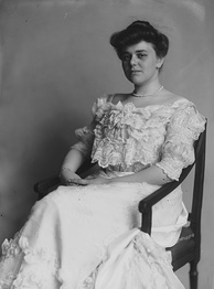 Photograph of Miss Alice Hay, taken between 1890 and 1920 by Frances Benjamin Johnston. Alice, Wadsworth's wife, served as president of NAOWS