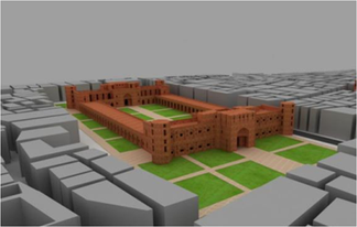 A 3D reconstruction of the Bara Katra in modern-day Dhaka