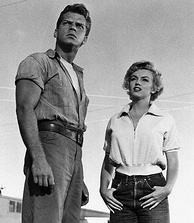 Keith Andes and Monroe in Clash by Night (1952). The film allowed Monroe to display more of her acting range in a dramatic role