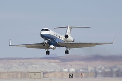 NASA's Gulfstream landing at Edwards Air Force Base