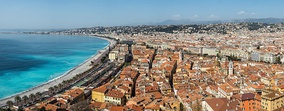Nice, Alpes-Maritimes, is often considered to be Southern France's best-known city abroad, although it is not the largest.