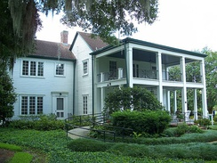 Historic Mizell Plantation Home (built 1858), the oldest structure still standing in Orlando, Florida is located in what is now Harry P. Leu Gardens. The home is located in the Mizell-Leu House Historic District.