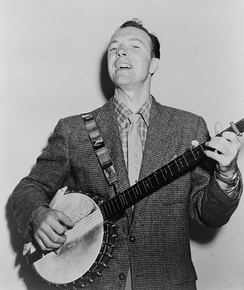 Pete Seeger, inducted in 1996.