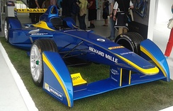 The e.dams Formula E car on show at Battersea Park Street Circuit, June 2015