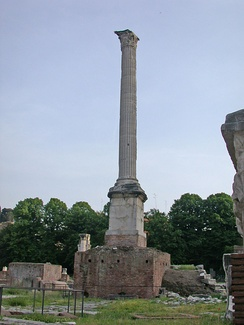 The Column of Phocas, last imperial monument in the Roman Forum.