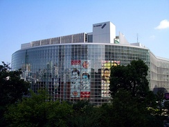 The headquarters of TV Asahi, which moved its headquarters to Roppongi Hills from Ark Hills in 2003