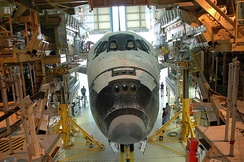 Discovery inside OPF-3 following the completion of mission STS-114
