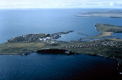 Aerial view of St. Paul Island