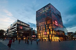 The Taikoo Li Sanlitun shopping arcade is a popular destination among locals and visitors