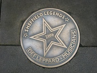 Sheffield Legends plaque in their home city of Sheffield, England. Installed in 2006.