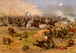 Sheridan's final charge at Winchester