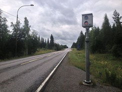 A speed camera on the Highway 5 in Joroinen, South Savonia, Finland