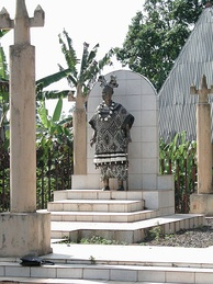 A statue of a chief in Bana, West Region.