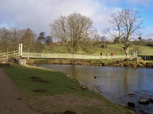 Suspension bridge over the river Wharfe below Hebden - geograph.org.uk - 437193.jpg